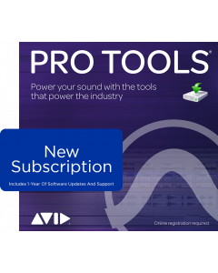 Avid Pro Tools 1-Year Subscription, software download with updates + support for a year
