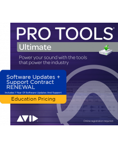 Pro Tools Ultimate | 1-Year Software Updates + Support Plan RENEWAL (For Perpetual Licences Before Your Active Plan Ends) - EDUCATION PRICING