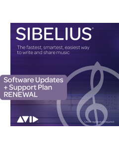 Avid Sibelius 1-Year Software Updates + Support Plan