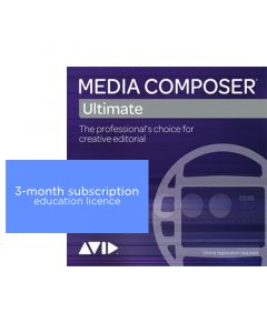Avid Media Composer   Ultimate Perpetual 3-month Subscription NEW - Education Pricing